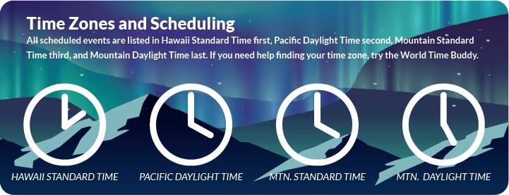 WACUBO Time Zones and Scheduling Notice: All scheduled events are listed in HT, PT, and MT, in that order. If you need help finding your time zone, try the World Time Buddy